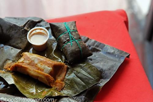 Tamales de Pipian con aji de mani