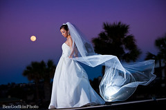 Moonlit Bride... (Ben Godkin [Caroline+Ben Photography] SWPB) Tags: bride fullmoon moonlit bridalportraits horseshoebayresort moonlitbride