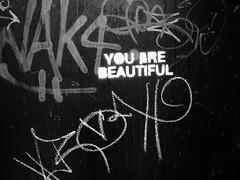 You Are Beautiful (Bradley Nash Burgess) Tags: blackandwhite bw streetart monochrome canon graffiti al birmingham alabama birminghamal youarebeautiful canonpowershots95 canonpowershots95birminghamalalabamabirmingham algraffitistreetarttagtagging