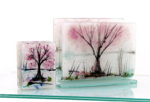 fused glass napkin holder and Toothpick Holder. by virtuly art in glass