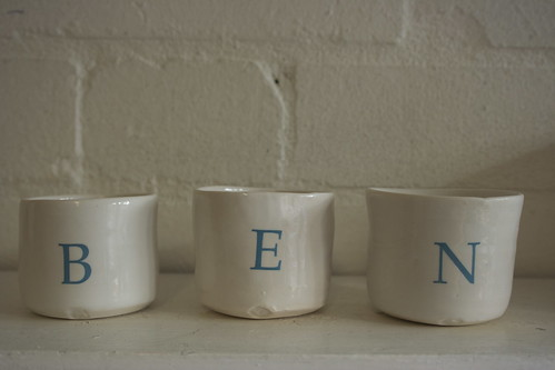 alphabet candle pots by potteryrachel