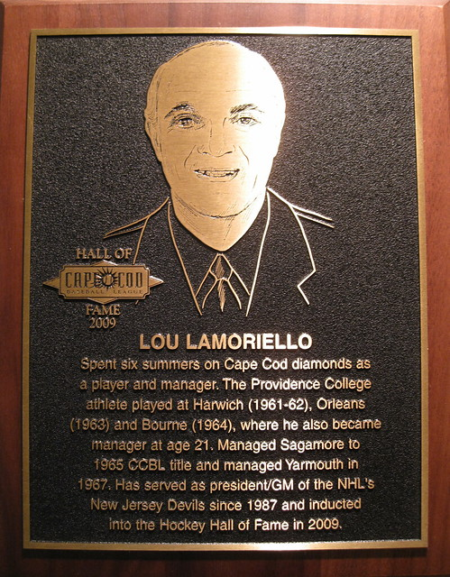 CCBL Hall of Famer Lou Lamoriello