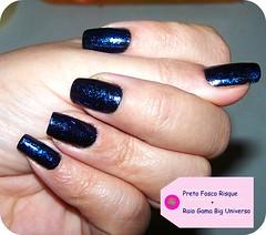 Esmalte do Dia (O GATO MIMOSO) Tags: black nail preto manicure picnik matte risque unha fosco vernis esmalte flocado biguniverso