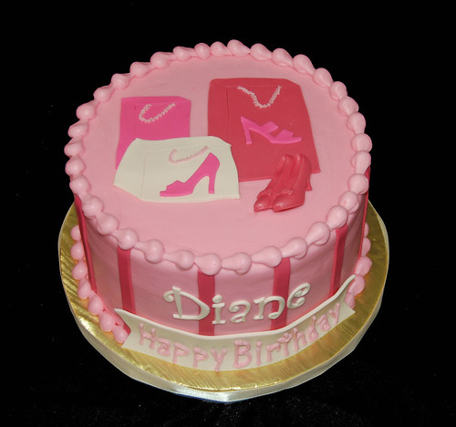 adult birthday cake for a woman who loves to shop for shoes