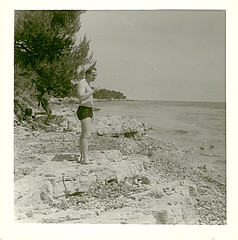 Av Mitchison Near Antibes (CSHL Archives) Tags: archives frances antibes cshl jamesdwatson avironmitchison