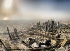 Dubai - vue de Burj Khalifa - 18-06-2011 - 17h45 (Panoramas) Tags: shadow sea sky panorama sun mer skyscraper landscape evening soleil highway dubai shadows view skyscrapers desert top horizon uae fv5 ombre explore ciel khalifa mission imf fv10 routes autoroute roads paysage soir vue hdr address ptassembler burj impossible panoramique ombres dsert sommet interestingness29 autoroutes gratteciels smartblend hyghways