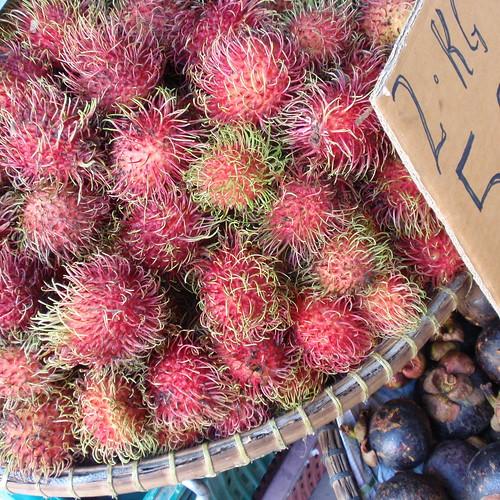 Kota Bharu market- rambutans
