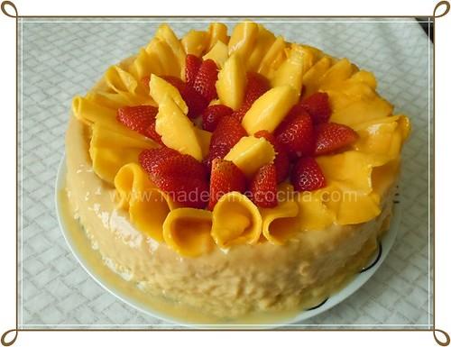 Pastel de mango y 2 leches