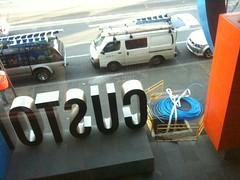 Big Blue Cable (NicnBill) Tags: street australia melbourne cable victoria docklands fiber optic fibre latrobe nbn port1010 nationalbroadbandnetwork