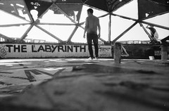 the labyrinth (Luca Scarpa) Tags: selfportrait berlino berlin teufelsberg architecture film bn bw blackandwhite biancoenero