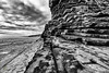 Layered (w.mekwi photography [here & there]) Tags: wales landscape geology uk lines leadin outdoors wmekwiphotography nashpoint blackandwhite nikond800 texture