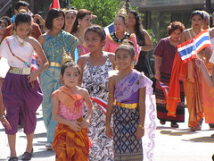 Little Thai Ladies (Gerry Dincher) Tags: internationalfolkfestival parade downtownfayetteville fayetteville cumberlandcounty northcarolina haystreet personstreet marketsquare outdoors multicultural folk girls thai thailand