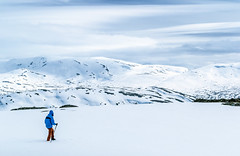 Winter hiking (oleksandr.mazur) Tags: activity alone area cliff cloudy cold environment extreme field footpath frost glow high highland hiking hill icecap landscape lonely mountain mountaineering nature north norway one outdoors peak range ridge season sky slope smooth snow snowy solitude sports summit surface top tourism tourist travel trekking vacation view white wilderness winter woman
