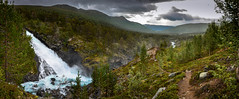 Reinheimen nasjonalpark (Ornaim) Tags: national park nature water waterfall norge norway reinheimen mountain wild tree landscape blue green image composite editor panoramic stitch billingen oppland norvege lightroom path hike trail nikon d610 lee filter gnd 03 grad hard 1635 vr afs