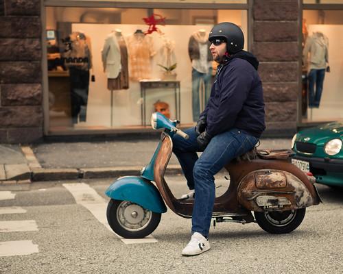 81/365 - Vintage Vespa Dude