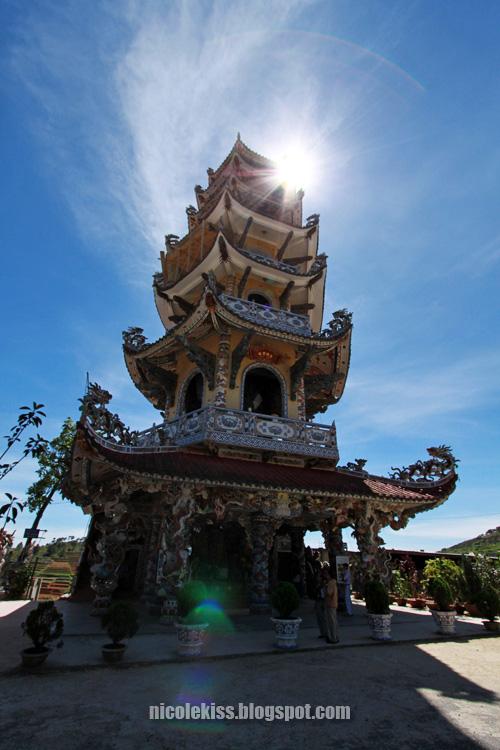 sun and pagoda temple