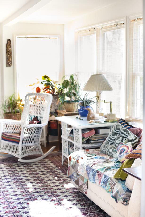 An artist air force vet 39 s home in beaufort nc ann - Deco style boheme chic ...