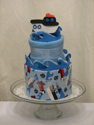 Anchors Away! Two Tier Made From Scratch Cake for Boy (front)