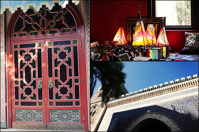 Epcot World Showcase Morocco triptych details
