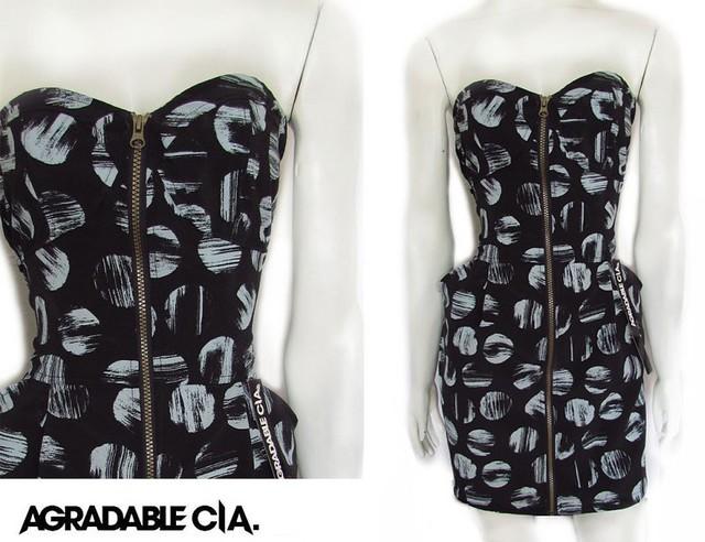 vestido seda lunares,, moda otoño invierno 2011, diseñador independiente argentina, agradable compania, vestidos de invierno, vestidos de seda, vestidos a lunares