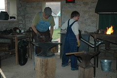 Blacksmith at Glidden Homestead