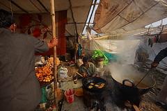 halwai shop (Samir D) Tags: india festival canon eos hands asia bangla ganga sweetshop sagar westbengal 2011 sigma1020 40d canon40d halwai samird