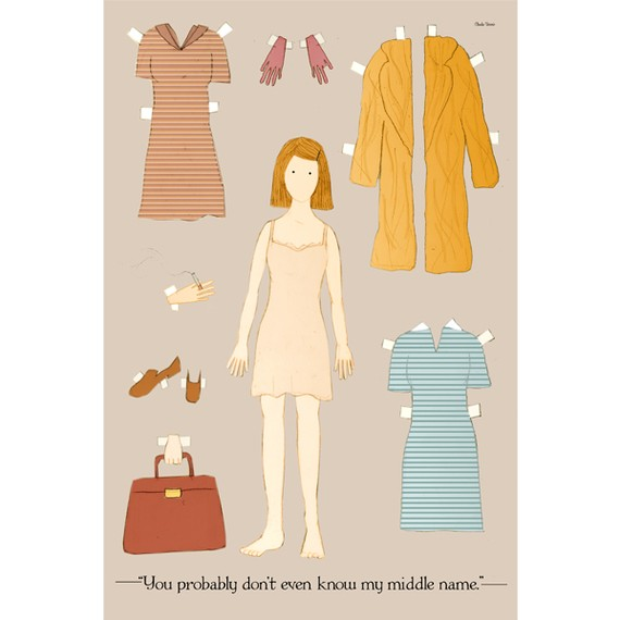 The Margot Tenenbaum paper doll print by claudiavarosio