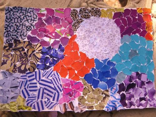 handmade postcard - circles