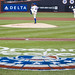 R.A. Dickey pitches on Opening Weekend