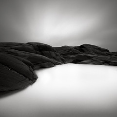 Granite (Maria Stromvik) Tags: longexposure sky cliff cloud seascape rock coast sweden granite moonscape desolation bohusln waterscape lysekil stngehuvud nd110 bwnd110