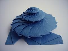 16-sided flower tower, side view (Dasssa) Tags: star origami chrispalmer flowertower