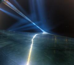 twist (davedehetre) Tags: longexposure sky reflection night painting landscape lights glow arch angle wide stlouis landmark fisheye riverfront rays panels 8mm hdr f35 photomatix samyang prooptic dwcfflightpaint