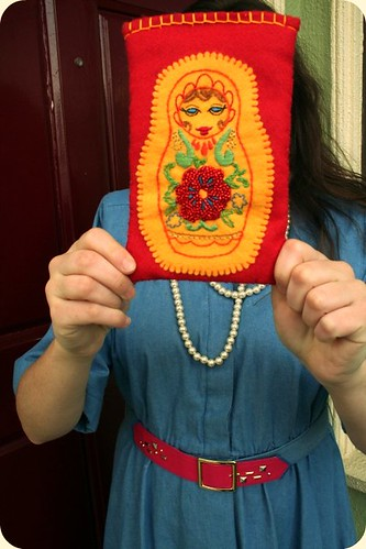 Russian Doll Pouch Made by Mafiosagrrl!