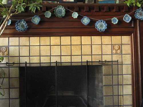 Fireplace garland by mary made me