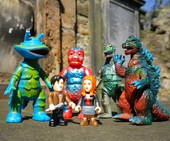 """""""Don't worry Pond, it's a 'monster lite' episode..."""" (R D L) Tags: amy lego godzilla doctor doctorwho kaiju minifigure bullmark characterbuilding"""