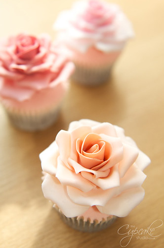 Full Size Rose Cupcakes