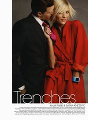 """Anja Rubik (in Jil Sander) and Sasha Knezevic (in D&G) - """"Love in the Trenches"""" by Patrick Demarchelier for US Vogue Febraury 2011 (Winter Phoenix) Tags: by for us patrick vogue sasha jil anja dg rubik sander febraury in 2011 demarchelier knezevic loveinthetrenches"""