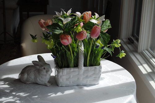 Easter Flowers in Basket