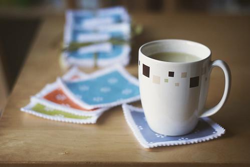 Coasters + Tea