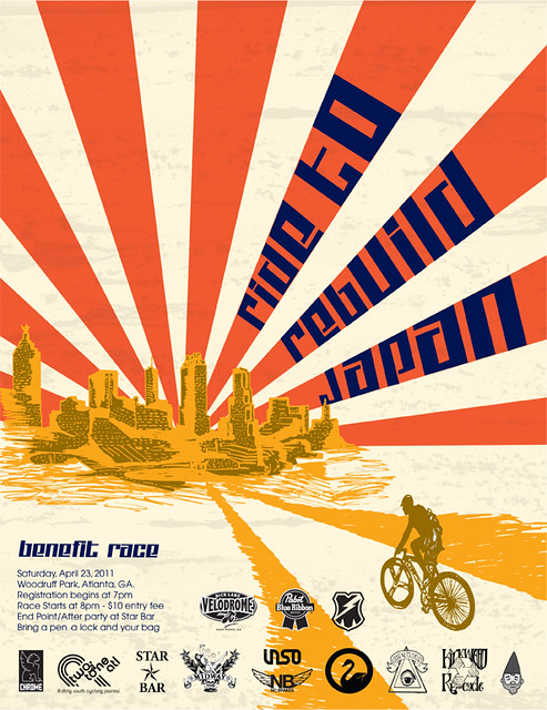 Upcoming ATL Alleycat! Ride to Rebuild Japan! April 23rd.