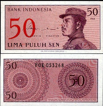 50 Sen Indonézia 1964, P94