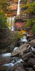 kaaterskill falls II ([Adam Baker]) Tags: park autumn red orange lake ny green nature creek forest canon waterfall rocks stream long exposure state hiking south north foliage gorge catskills cascade kaaterskillfalls 24105l adambaker 5dmarkii