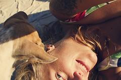107/365 (obo-bobolina) Tags: portrait dog beach puppy thailand critter hannah armslength sp bikini 365 kohphangan doggie elfie haadsalad 365days