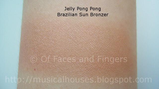 jelly pong pong brazilian sun bronzer swatch