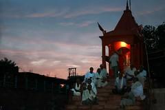 Stairway to Temple - Varanasi, India (whl.travel) Tags: travel india holiday stairs temple evening faith religion buddhism varanasi spirituality tours hinduism kashi canoneos pilgrimage ganges banaras holycity hindus indianmen assighat