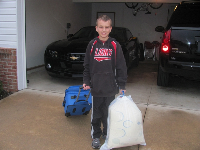Blake going to camp