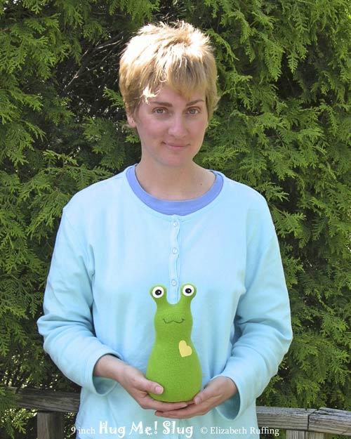 Grass Green Fleece Hug Me Slug by Elizabeth Ruffing