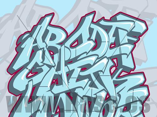 abecedario de graffiti. abecedario de graffiti