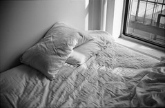 (scott w. h. young) Tags: light love film home window 35mm bed sleep sheets agfa soon scala200
