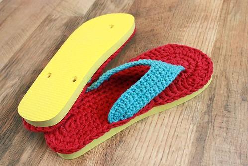 1be668a86563ec Flip Flops Crochet Pattern with foam flip flop sole - a photo on ...